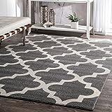 nuLOOM Ivy Moroccan Trellis Area Rug, 4' x 6', Grey