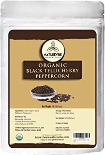 Naturevibe Botanicals Black Tellicherry Peppercorn, 1lb   Non-GMO and Gluten Free   Indian Spice   Adds Aroma and Flavor