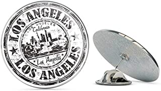 Los Angeles California Round Metal 0.75