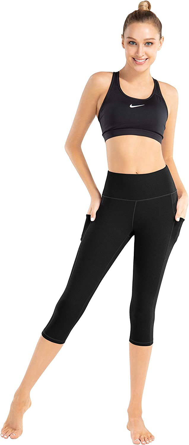 High Waisted Tummy Control Leggings 4 Way Stretch Workout Pants LifeSky Yoga Pants with Pockets for Women