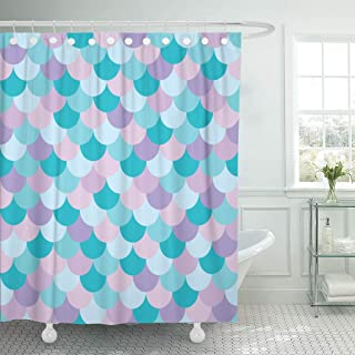 Fat Man With a tail Shower Curtain Waterproof Fabric Curtains Bath Mat Rug Hooks