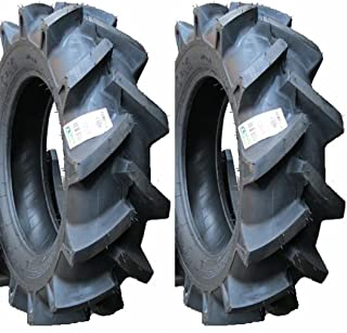 BKT Two New 6-14 Deep Lug R-1 Tires & Tubes Compact 4wd Farm Tractors 4Ply Rated