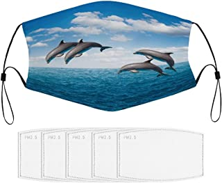 Adult Face Masks 3D Dolphin Graphic Washable Reusable Gifts for Women_P1