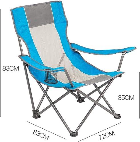 HCFSUK portable Chaise de Pêche Pliante Extérieure Dossier Ultra-Léger Pliable Dossier portable Pause Déjeuner Plage Maison Loisirs Sieste Chaises de Pêche,A