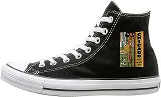 Shenigon Vintage Chicago Canvas Shoes High Top Design Black Sneakers Unisex Style