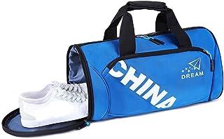メンズ ダッフルバッグ ジムバッグ メンズジムバッグメンズスポーツトレーニングバッグ&靴キャビン周遊旅行荷物バッグ 修学 旅行バッグ 防水 (色 : Black, Size : S)