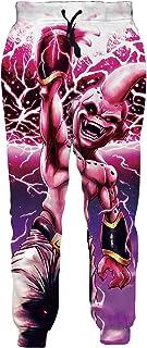 Ocsoc Women/Men Unisex Dragon Ball Z Joggers Sweatpants 3D Anime Print Track Baggy Trousers