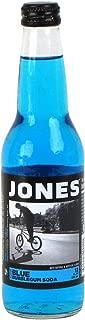 Jones Soda, Blue Bubble Gum, 12 Ounce (12 Glass Bottles)