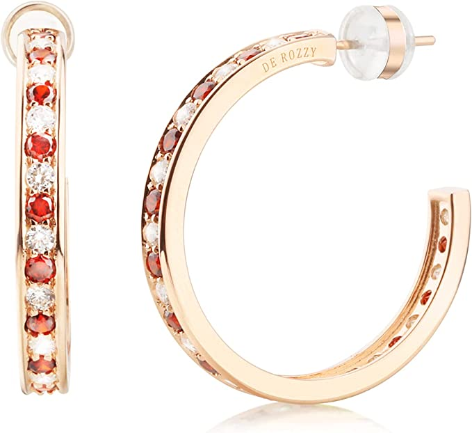 14K gold sterling silver cubic zirconia hoop earring for Women Wonderful Gift Choice and girls
