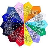 Gudotra 14 Pezzi Bandane in Cotone per Capelli Donna Uomo Multicolori Paisley Fazzoletti Testa
