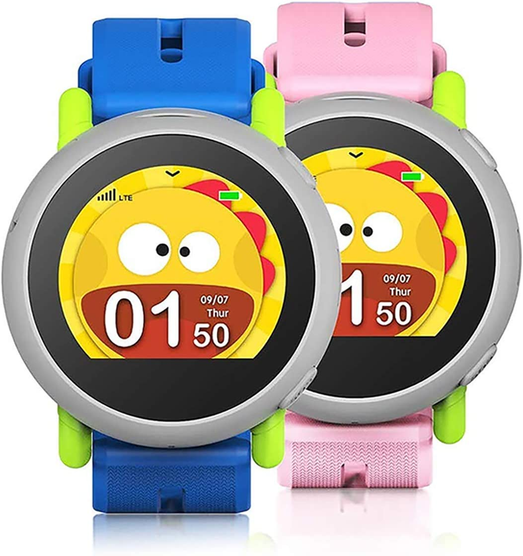 Coolpad Dyno - Kids Smartwatch with Preloaded SIM (4G LTE), GPS Location Tracking, 2-Way Voice Calls and Text, Safety Geofencing, 2.5 Days Battery Life, Blue and Pink Bands Included