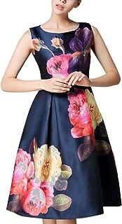 Designer Neavy Blue Knee Lengh Satin Dress