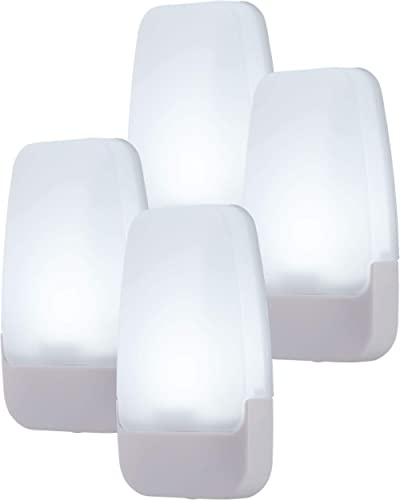 GE Daylight LED Night Light, 4 Pack, Dusk to Dawn, 5000K, UL-Listed, Ideal for Kitchen, Home Office, Bedroom, Nursery...