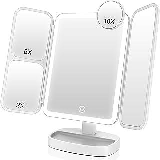 Easehold Vanity Mirror Magnifying Makeup Mirror Tri-fold