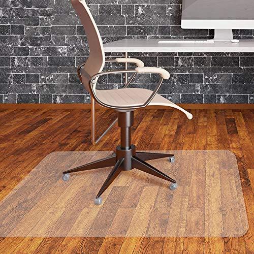 MVPower Alfombras para Silla de oficina, Esteras para sillas de oficina 120 x 90 cm, PVC Transparente, Protección Antideslizante, Alta Resistencia de Impacto