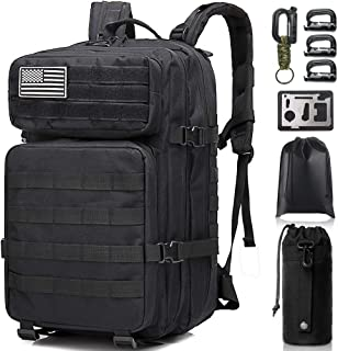 Monoki Military Tactical Backpack, 42L Army 3 Day Assault Pack, Large Molle Bug Out Bag Backpacks Rucksack for Outdoors Hiking Camping Hunting Trekking Traveling, with 10Pcs Gift Kits