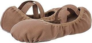 Scarpe da Danza Classica in Tela Elasticizzata Scarpe da Ballerina Scarpe da Balletto Suola in Cuoio Crosta per Bambina Ra...
