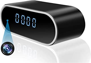 Clock Camera WiFi 1080P Alarm Clock with Night Vision & Motion Detection Nanny Cam for Home/Office