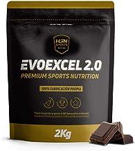 Whey Protein Isolate + Whey Protein Concentrate de HSN Evoexcel 2.0   Batido de Proteínas para Ganar Masa Muscular, Recuperar, Perder Grasa   Vegetariano, Sabor Chocolate, 2Kg
