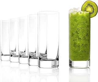 Stölzle Lausitz Highball Becher der Serie New York Bar/Wassergläser, 450ml, 6er Set, spülmaschinenfest, Schlichte, schlanke Gläser aus hochwertigem Kristallglas