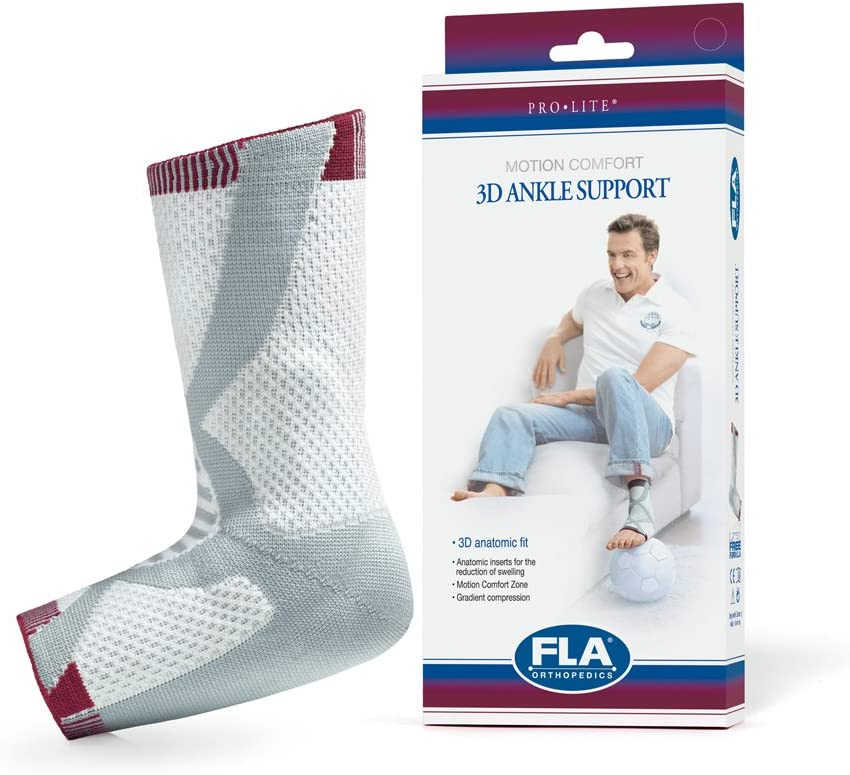Free Shipping New Prolite 3D Compression unisex Ankle Support Right Small