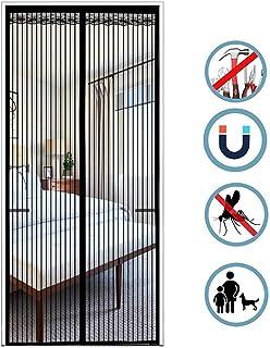 210cm Mosquiteras Imanes con Marco completo Velcro para Sala de estar Cocina Cuarto Sala de Piano Mosquitera Puerta 100