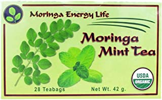 MORINGA MINT TEA - USDA Organic - Nature´s Most Potent Botanical for Nutrients, Vitamins & Minerals Now with Soothing Mint...