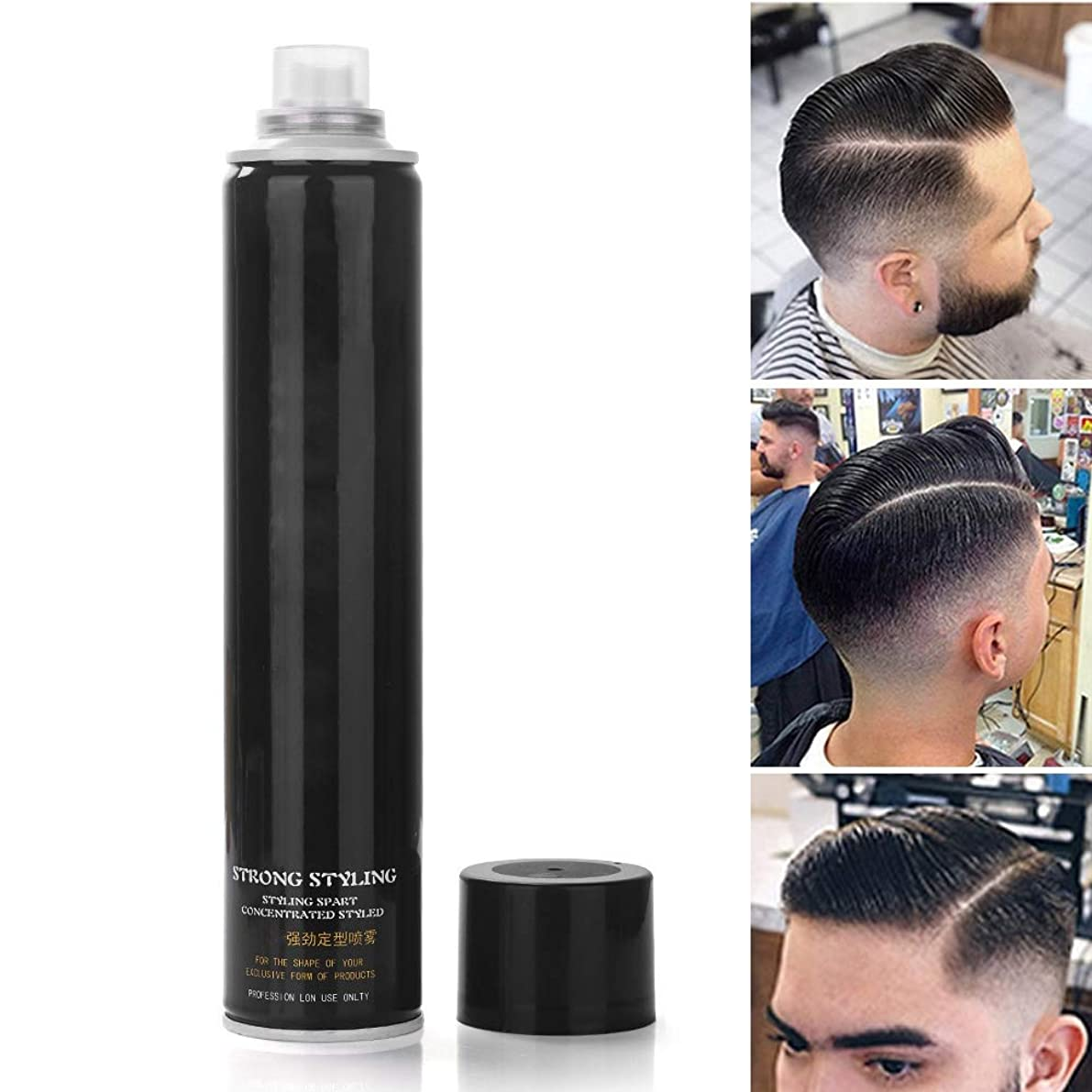 ヨーロッパ破壊的泥男性と女性のためのあなたの髪のスタイルを保護しながら、長持ちする強力なホールドのためのスプレーを修正、強いホールドヘアスプレースタイルの修正スプレー