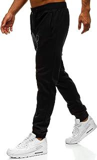 Hombre Pantalones Jogger Deportivo Entrenamiento Fitness Motivo Mix 6F6