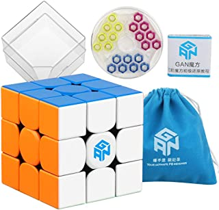 Coogam Gans 354 M Speed Cube Stickerless 3x3 Gan354 Magnetic Puzzle Speedcube with Extra Blue Bag
