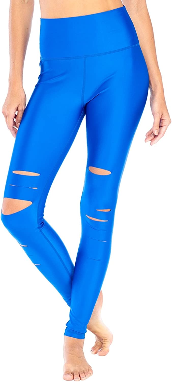 Electric Yoga Slash Legging Womens Active Workout Yoga Leggings