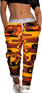 9a28b83b8380c Amazon.fr : Pantalon Camouflage Femme - Orange : Vêtements