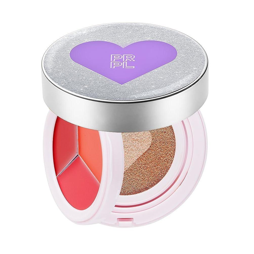前提条件ポジションゲートウェイPRPL Kiss&Heart Cushion Silver Edition(Lip Glow Pink/Lip Glow Orange/Lip Glow Red) Triple Heart Cushion Compact (SPF50+, PA+++) (#23 Pure Beige) Korean Make-up Cosmetics KBeauty