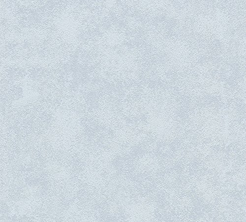 A.S. Création Vliestapete Happy Spring Tapete Uni 10,05 m x 0,53 m blau grau Made in Germany 343046 34304-6