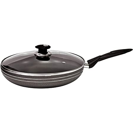 32cm UNA Non Stick Frying Pan Gas Induction Electric Hob Fry Up Extra Large