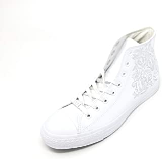 Converse CTAS Chuck Taylor All Star HI Special Unique Collection Leather (11, White/White/Mouse)