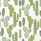 20 servilletas de cactus para plantas, natural México