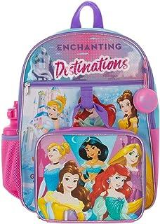 Disney Princess Backpack and Kids Lunchbox School Supplies Set