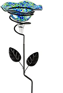 Whimsical Garden 92496 Garden Stake Butterfly Feeder, Small, Green/Black