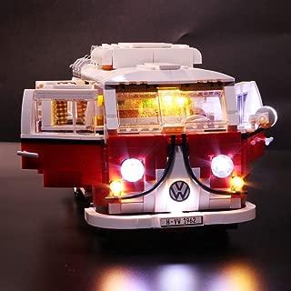 Vonado Led Light Set for Lego 10220 Creator Volkswagen T1 Camper Van,Compatible 21001 Building Blocks Bricks Toy to Brother Friends Boys and Girls(NOT Include Lego Set)