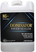 5 Gallon DOMINATOR NG+ Matte Wet Look Paver Sealer and Decorative Concrete – Solvent Free, Twice The Coverage Rate (up to 2,000 sq ft)