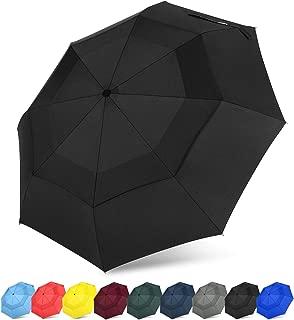 Folding Travel Umbrella Compact with SAFE LOCK Double Canopy Windproof Auto Open Close Personal Small Umbrella