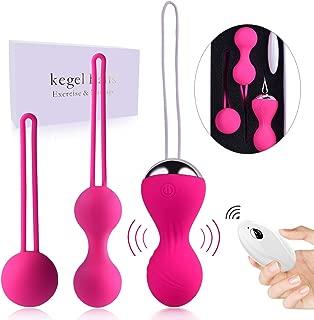 Kegel Exercise Weights for Women - Kegel Balls for Beginners & Advanced Pelvic Floor Exercises, Silicone kegel Balls for Tightening with 3 Weights for Regaining Bladder Control