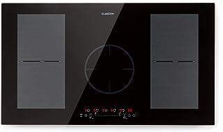 Klarstein Delicatessa 90 Flex placa de inducción – tecnología Flexzone, autárquico, encastrable, 90 cm, 5 zonas, 7000 W, reconocimiento de sartenes y ollas, programable, vitrocerámica, negro