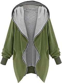 Womens Zipper Hoodie Kapuzen Jacket Warm Winter Thicken Fleece Lined Parkas Long Parka Coats
