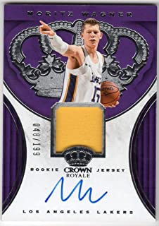 Moritz Wagner 2018-19 Panini Crown Royale Rookie Auto Jersey Card Serial #048/199 RC Autograph