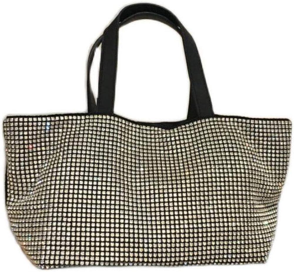 HappyERA Crystal Rhinestone Women Shoulder Fashion Bl Daily bargain sale Max 53% OFF Ladies Bag