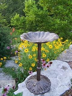 Oakland Living Lily Bird Bath, Antique Bronze