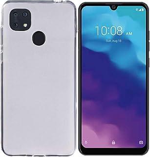 Tznzxm Case for ZTE ZMax 10, ZTE Z6250 Back Case,Consumer Cellular ZMax 10 Case, Flexible Soft TPU Scratch Resistant Non-Slip Shock Absorption Back Cover Rubber Slim Phone Case for ZTE Z6250 White
