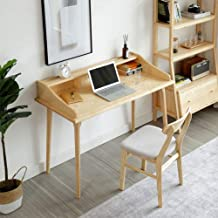 Solid Wood Desk and Chair Combination, Writing Desk Home Simple Table Student Desk Workstation Table Storage Table